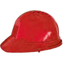 Casco Obra Ranura 30mm Con Desusadora Rojo