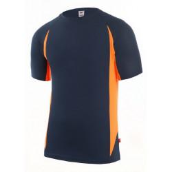 Camiseta Técnica Manga Corta Marino/naranja Talla M