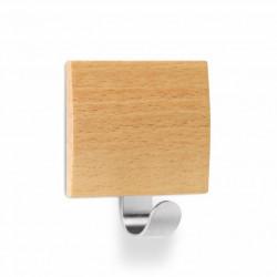 Colgador Hog 51x45x24mm Adh Inox/madera Haya 2320-8+ Inofix