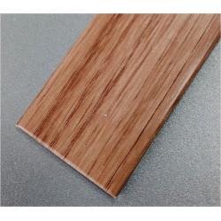 Perfil Pvc Plaqueta Plano Adhesivo Inox 35mmx1mt