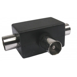 Distribuidor Antena Coaxial 2 Hembras 1 Macho Tri Axil