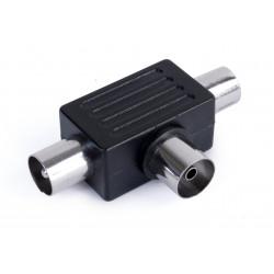 Distribuidor Antena Coaxial 2 Machos 1 Hembra Tri Axil