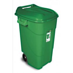 Contenedor Plastico Con Ruedas 120 Litros Verde 424007 Tayg