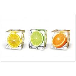 Cuadro Cristal Cocina Frutas 90x50cm
