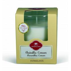 Vela Vaso Vainilla Cream