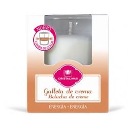 Vela Vaso Bicolor Galleta-crema