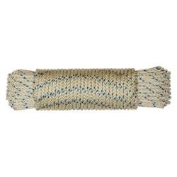 Cuerda Nylon Trenzada Tipo Driza 06mm Blca/azul Madeja 20m