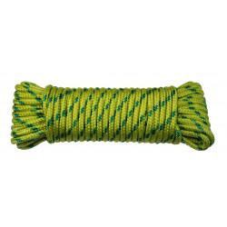 Cuerda Nylon Trenzada Tendedero 05mm Verde/amaril Madeja 10m
