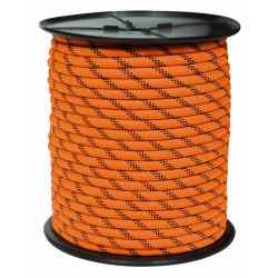 Cuerda Nylon Doble Trenza Escalada 16mm Nja/neg Carrete 100m