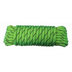 Cuerda Nylon Doble Trenza Escalada 06mm Verde/neg Madeja 10m