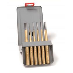 Botadores Cilindrico Octogonal Juego 6pz 3,4,5,6,8,10mm Cromo-va
