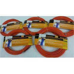 Guia Pasacables Acero-nylon 4mm 15metros Naranj 21638 Miarco
