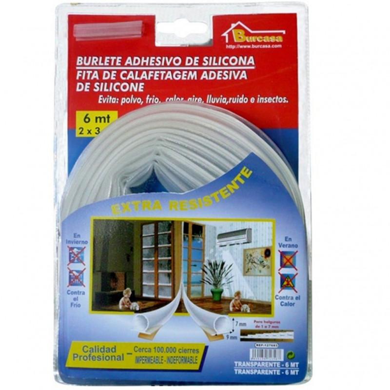 Comprar burlete silicona transparente 6m 127683 bresme en - Burlete de silicona ...