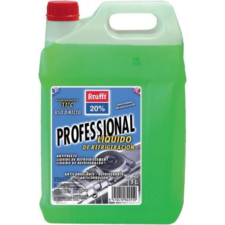Anticongelante-refrigante Al 20% Uso Directo -11ºc 5lt Verde