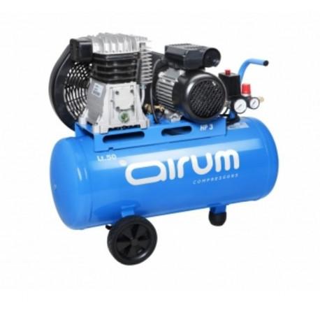 Compresor Correas  50lt C/aceite 2cv 9bar 255l Airum