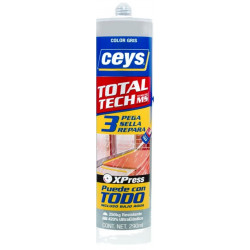 Adhesivo Sellador Total Tech Xpress Gris Cart 290ml Ceys