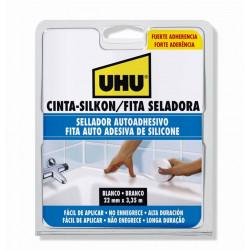 Cinta Selladora Autoadhesiva Uhu Silkon 22mmx3,35mt Blanca
