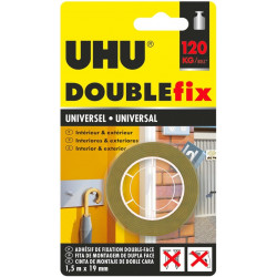 Cinta Autoadhesiva Doble Cara Uhu Doublefix 1,5mx19mm Marron