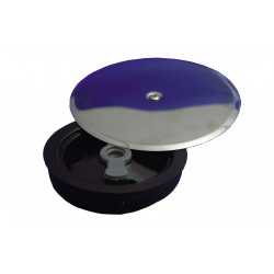 Tapa Bote Sifonico Expansiva+ Embellecedor Inox  110mm