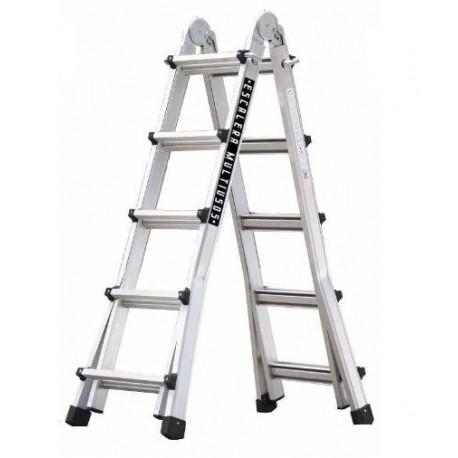 Escalera Multiuso Aluminio 10+10 Peldaños Master 5x5 Codiven