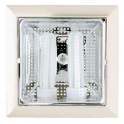 Downlight Cuadrado Cornelia Blanco E27 2x15w 4200k