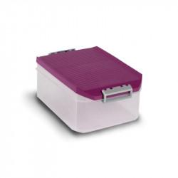 Caja Ordenacion Plastico 4,5lt 19x27,5x38,5 Morada