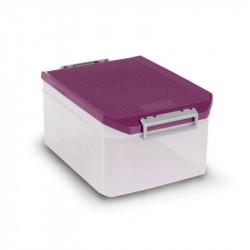Caja Ordenacion Plastico 14lt 19x27,5x38,5 Morada