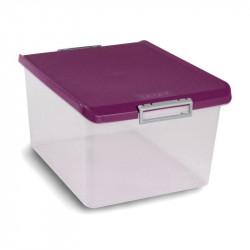 Caja Ordenacion Plastico 35lt 26,5x33,5x47,5 Morada