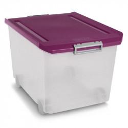 Caja Ordenacion Plast C/rueda 60lt 37x40,5x55 Morada