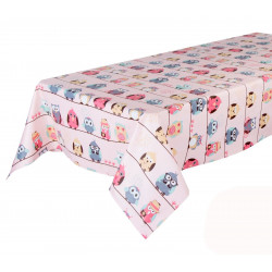 Mantel Rectangular Rosa Pink Owls 145x210cm 2