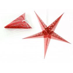 Adorno Navidad Estrella Carton Rojo Juinsa 45 Cm 2