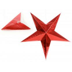 Adorno Navidad Estrella Carton Rojo Juinsa 90 Cm 2
