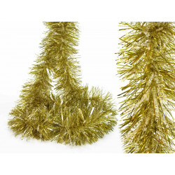 Adorno Navidad Boa Pelo Ancho Oro-nieve 180x12 Cm