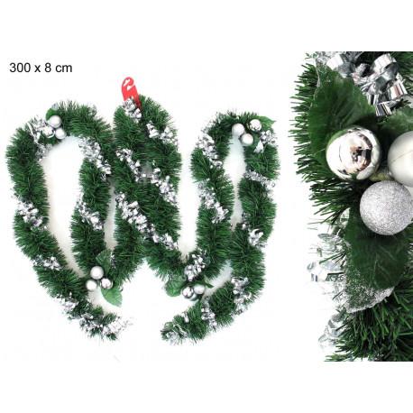 Adorno Navidad Guirnalda Espiral Con Bolas Espumillon Juinsa