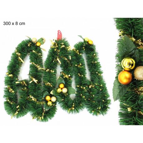 Adorno Navidad Guirnalda Espiral Con Bolas Espumillon