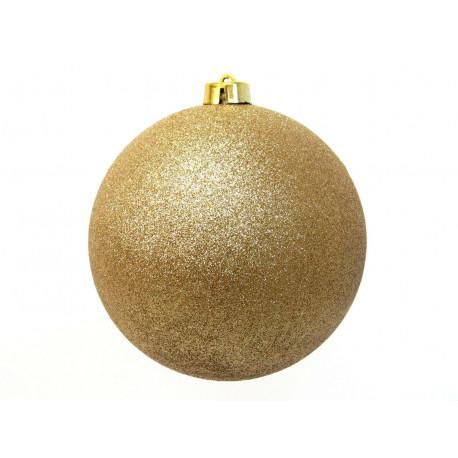 Adorno Navidad Bola Glitter Oro Juinsa 25 Cm