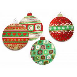 Adorno Navidad Colgante Circulo Multicolor Juinsa