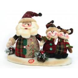 Adorno Navidad Papa Noel Muñeco Nieve Reno