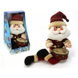 Adorno Navidad Papa Noel Tambor Juinsa 50 Cm
