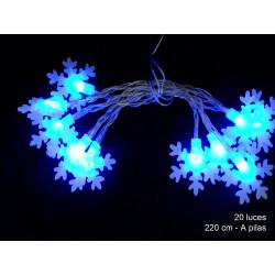 Luz Navidad Flash Led 20 Luces Cono Azul Juinsa