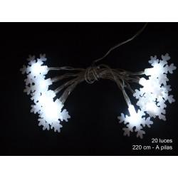 Luz Navidad Flash Led 20 Luces Estrella Blanco Juinsa