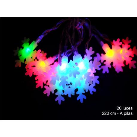 Luz Navidad Flash Led 20 Luces Estrella Multicolor Juinsa