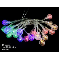 Luz Navidad Flash Led 10 Luces Bola Multicolor Juinsa 120 Cm