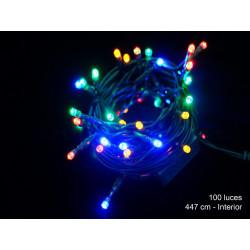 Luz Navidad Fija Led 100 Luces Multicolor Juinsa