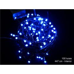 Luz Navidad 8 Funciones Led 100 Luces Azul Juinsa