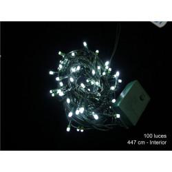 Luz Navidad 8 Funciones Led 100 Luces Blanco Juinsa