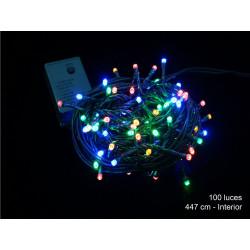 Luz Navidad 8 Funciones Led 100 Luces Multicolor Juinsa