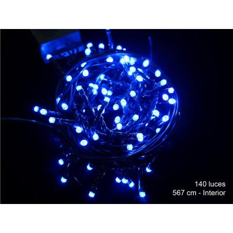 Luz Navidad 8 Funciones Led 140 Luces Azul Juinsa