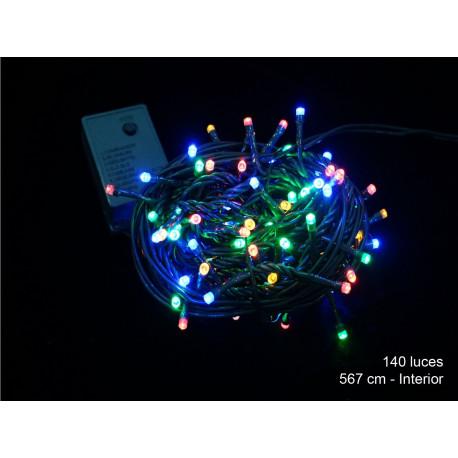Luz Navidad 8 Funciones Led 140 Luces Multicolor Juinsa