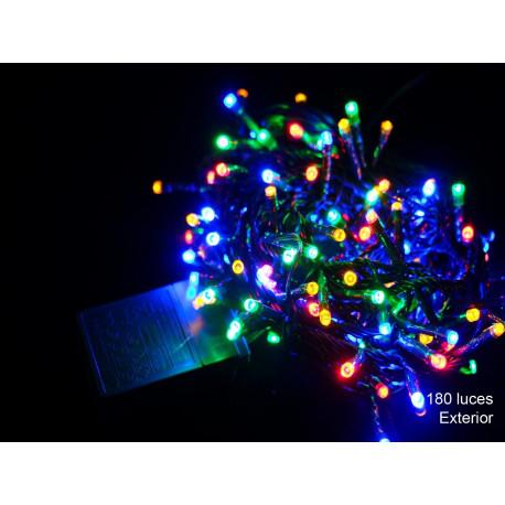 Luz Navidad 8 Funciones Led 180 Luces Multicolor Juinsa
